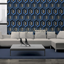 behang modern Retro crystal blue