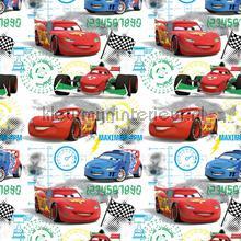 kinderkamer kinderbehang jongens behang Cars start grid