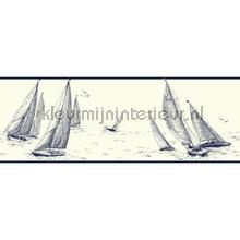 behangranden jongenskamer Sailboat border