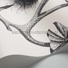 behang zwart-wit Lily