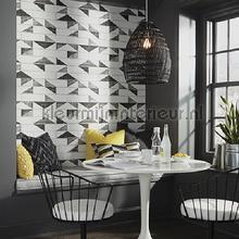 behang zwart-wit 96465