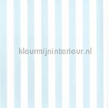 kinderkamer kinderbehang jongens behang Strepen lichtblauw wit