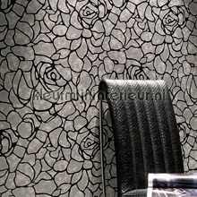 behang modern Rose petals wit-effect