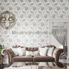 behang klassiek Luxe krul bloemtakken