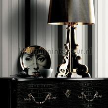 behang zwart-wit Luxueuze streep