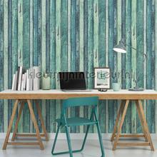behang hout Zeegroen sloophout planken