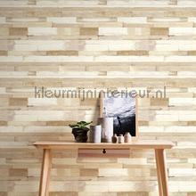 behang hout Dwarse houtplankjes