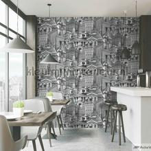behang zwart-wit City architecture motif XL rol