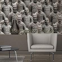 behang modern Terracotta leger