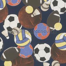 kinderkamer kinderbehang jongens behang Sport ballen