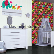 interieursticker kinderkamer Olifanten stickerset