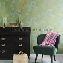 behang modern Botanical green