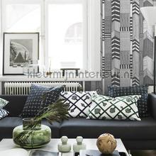 behang zwart-wit ruutukaava