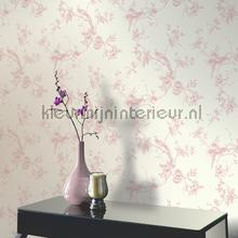 behang romatisch Chinoise - Pink