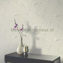 behang romatisch Chinoise - Taupe
