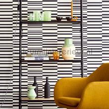 behang zwart-wit Horizontale en verticale strepen