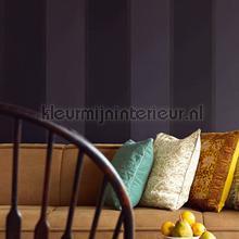 behang zwart-wit Brede streep met accentlijn