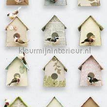 kinderkamer kinderbehang jongens behang Vogelhuisjes