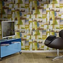 behang modern Blokkenpatroon