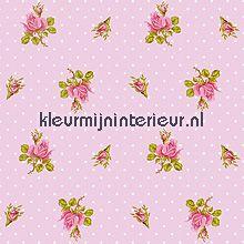 pip behang pink roses