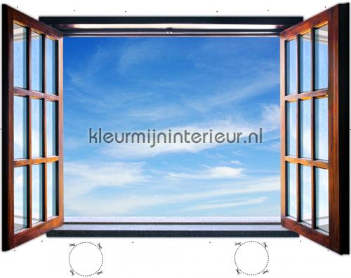 fotobehang kleurmijninterieur bijzonder fotobehang hemels uitzicht 721ve gr - Trompe Loeil Behang