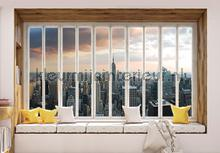 New york seen through window