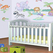 interieursticker kinderkamer Baby Jungle
