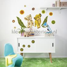 interieursticker kinderkamer simba and nala