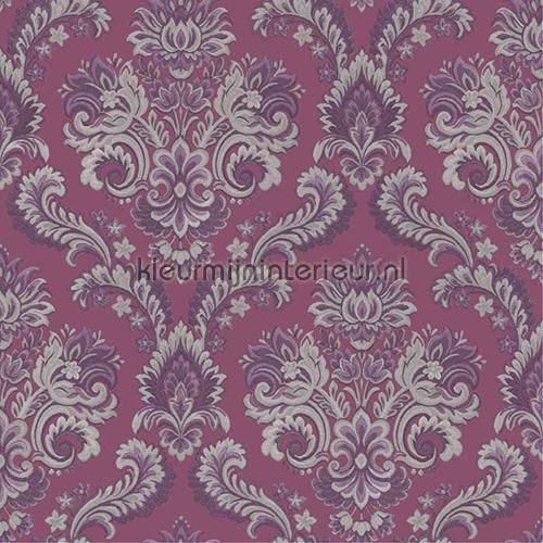Brocante zilver paars 8044 behang vintage van noordwand - Zilvergrijs behang ...