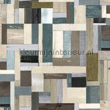 Sloophout vintage bruin grijs olijf papel de parede Esta home madeira