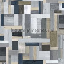 Sloophout vintage grijstinten papel de parede Esta home madeira