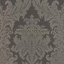 Textiele damask antraciet papel pintado Rasch barroco