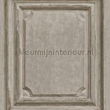 Oude houten panelen warmgrijs papel de parede Rasch madeira