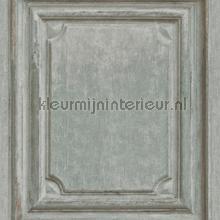 Oude houten panelen groengrijs papel de parede Rasch madeira