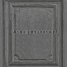 Oude houten panelen antraciet papel de parede Rasch madeira