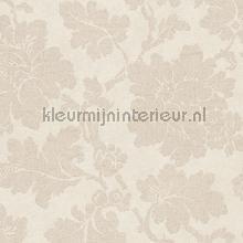Grote bloem beige papel pintado AS Creation barroco