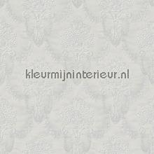 Floral bouquet damask light grey papel pintado Rasch barroco