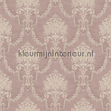 Floral bouquet damask old pink papel pintado Rasch barroco
