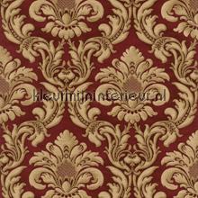 Traditional damask red papel pintado Rasch barroco