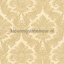 Traditional damask creme papel pintado Rasch barroco