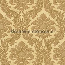 Traditional damask gold papel pintado Rasch barroco