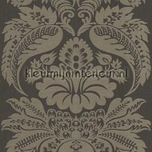 Large damask antracite papel pintado Rasch barroco