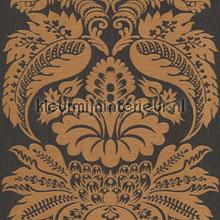 Large damask copper papel pintado Rasch barroco