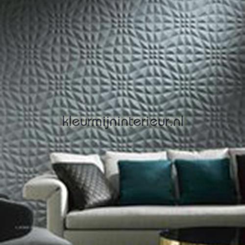 Flex 3d grafisch patroon blauwgrijs 30500 behang enigma van arte - Grafisch behang ...