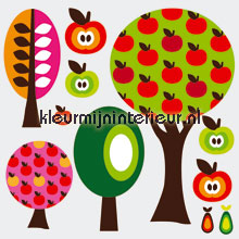 Fruitbomen stickerset autocolantes decoracao Kleurmijninterieur Beb�s Crian�as