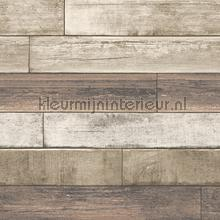 Horizontal wood soft brown papel de parede Dutch Wallcoverings madeira