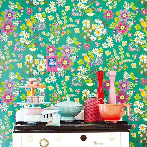 Keuken Behang Eijffinger : met licht roze achtergrond behang 359072 romantisch modern Eijffinger