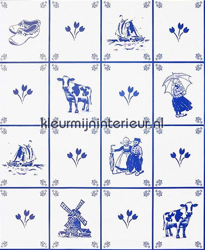 Tegel Behang Keuken : delftsblauwe tegels behang 51010 Keuken Kleurmijninterieur