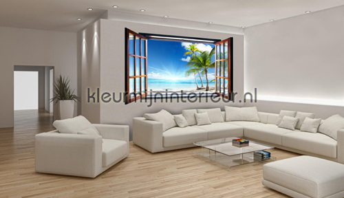 Behang Kinderkamer Strand : ... open window fotobehang 720-VEZ4 Zon ...