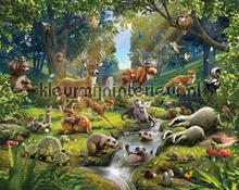 Animal Forest fotobehang Walltastic Bossen